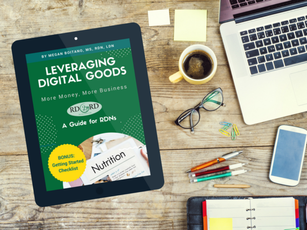 guide for dietitian to sell digital products for passive income