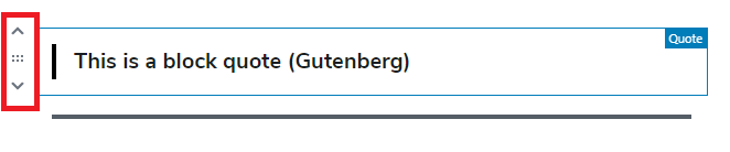 moving gutenberg block