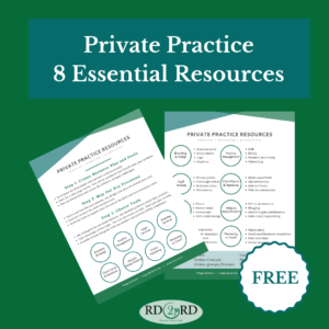 resource list for nutrition private practice