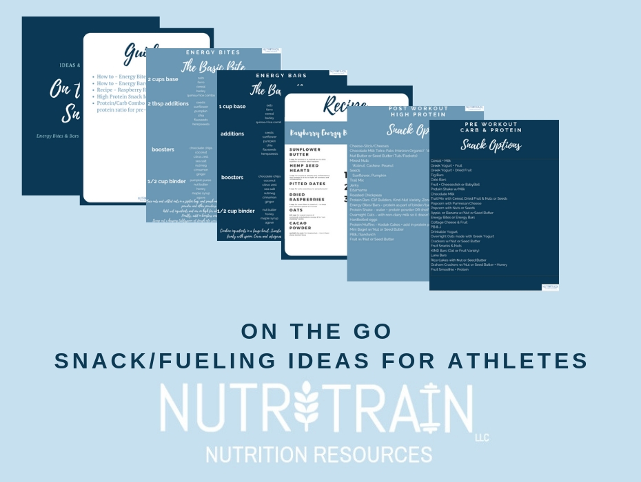 On The Go Snack/Fueling Ideas for Athletes