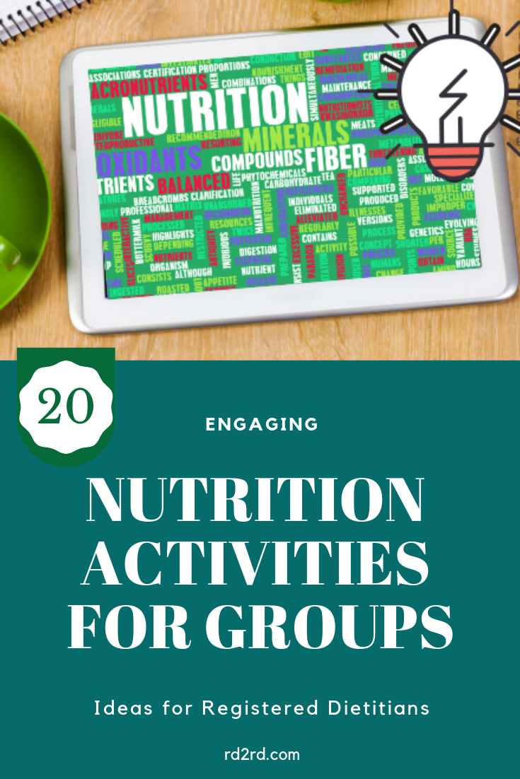 ideas for group nutrition activities