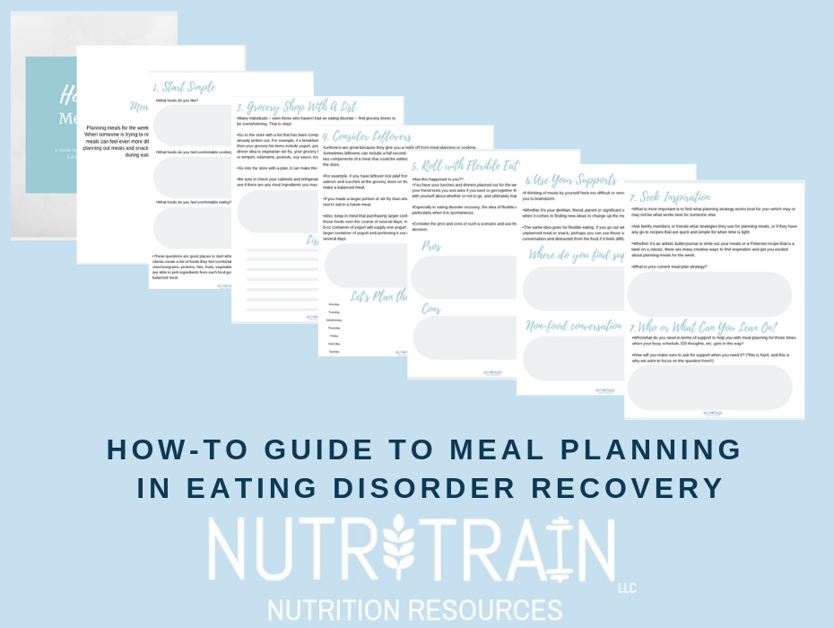 How-To Guide & Education, Meal Planning for Eating Disorder Recovery