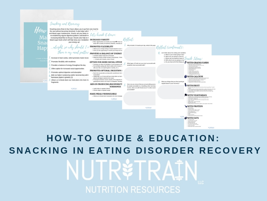 How-To Guide & Education, Snacking in Eating Disorder Recovery