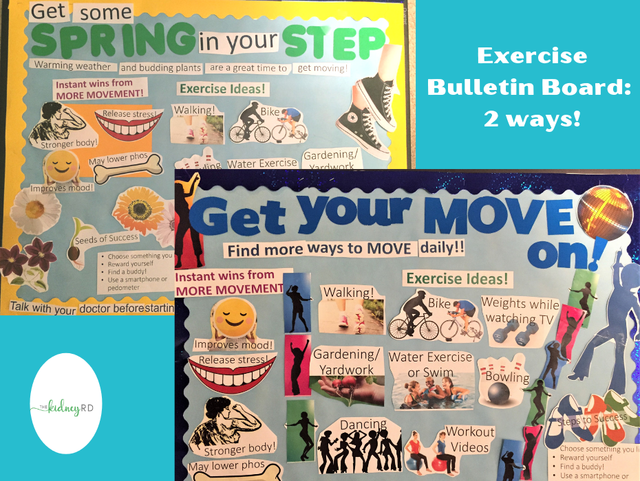 Exercise Bulletin Board for Dialysis Unit