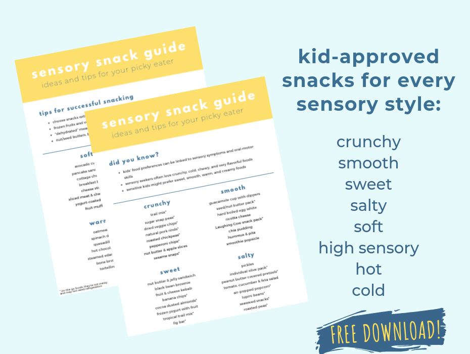 Sensory Snack Guide: Snack Ideas for Picky Eaters