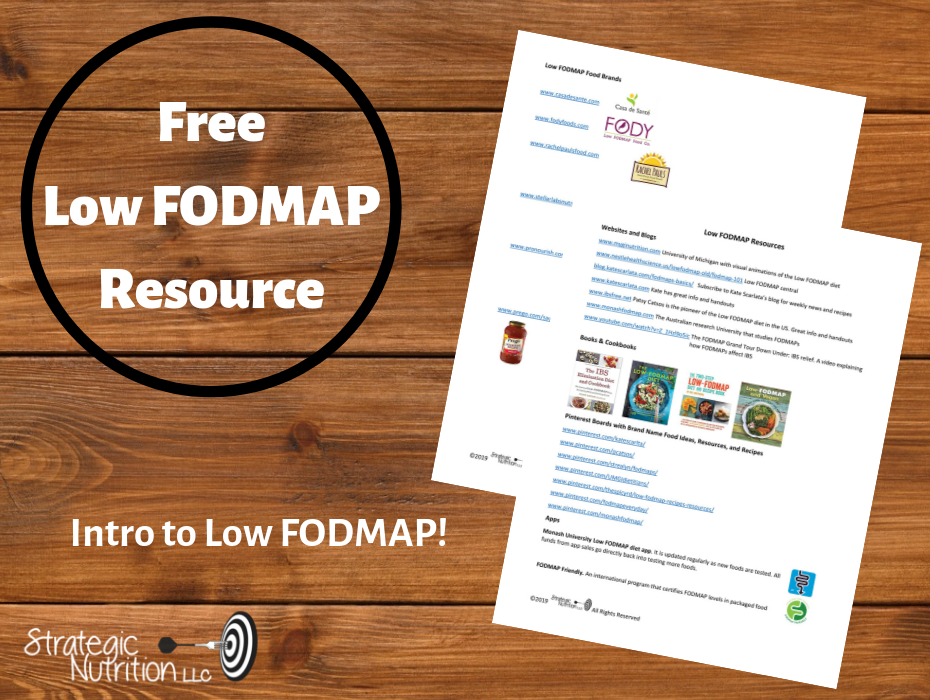 Low FODMAP Websites and Resources | RD2RD