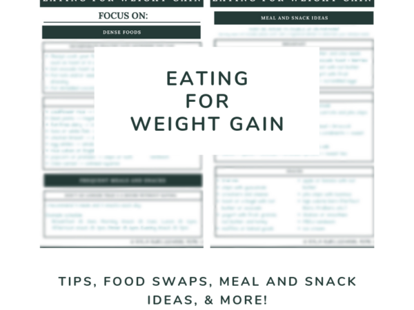 page preview eating for weight gain handout