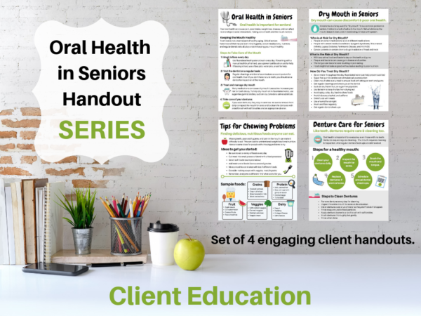 page previews oral health in seniors handout series