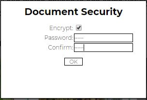 pdf escape security settings