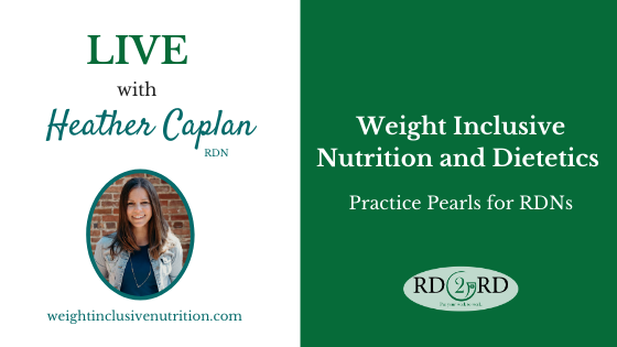 How to Practice Weight Inclusive Nutrition