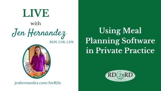 Using Meal Planning Software in Private Practice