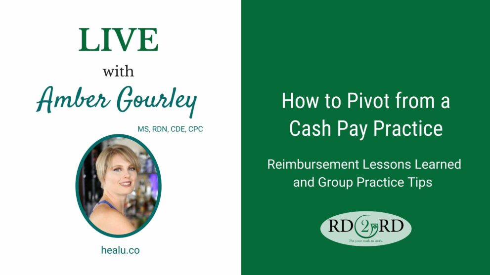 How to Pivot from a Cash Pay Practice