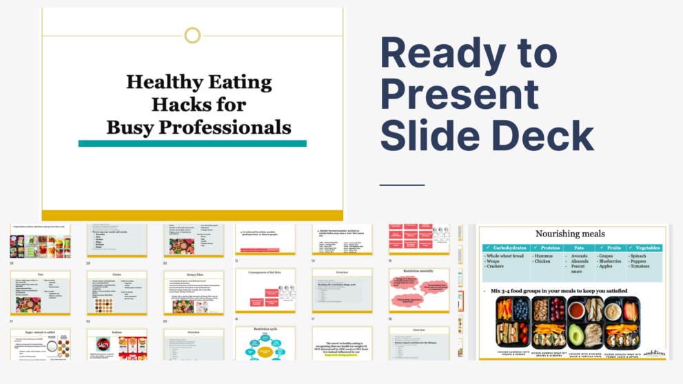 slide preview healthy eating for busy professionals