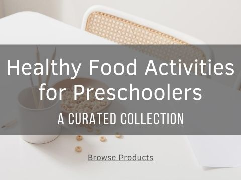 thumbnail image for collection of ideas for healthy food activities for preschoolers