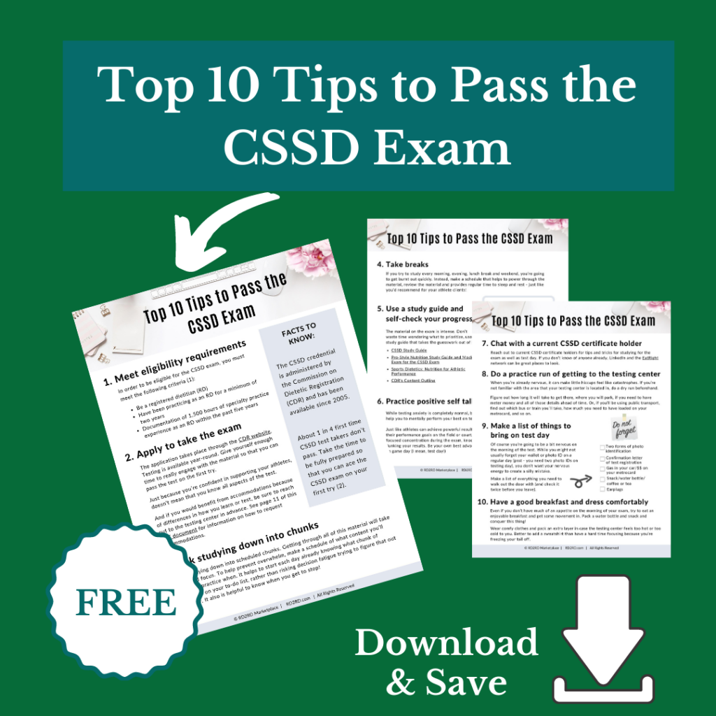 download and save this tip sheet for CSSD exam