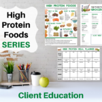 page previews high protein foods series client education