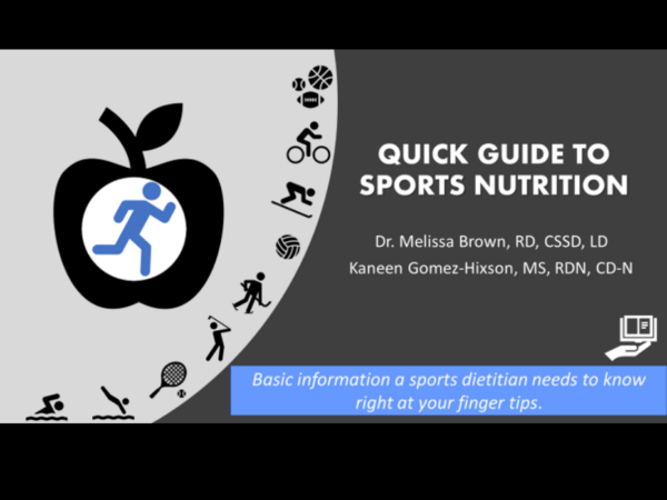 quick guide to sports nutrition