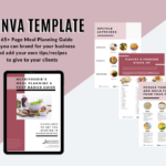 page preview of canva template for meal planning