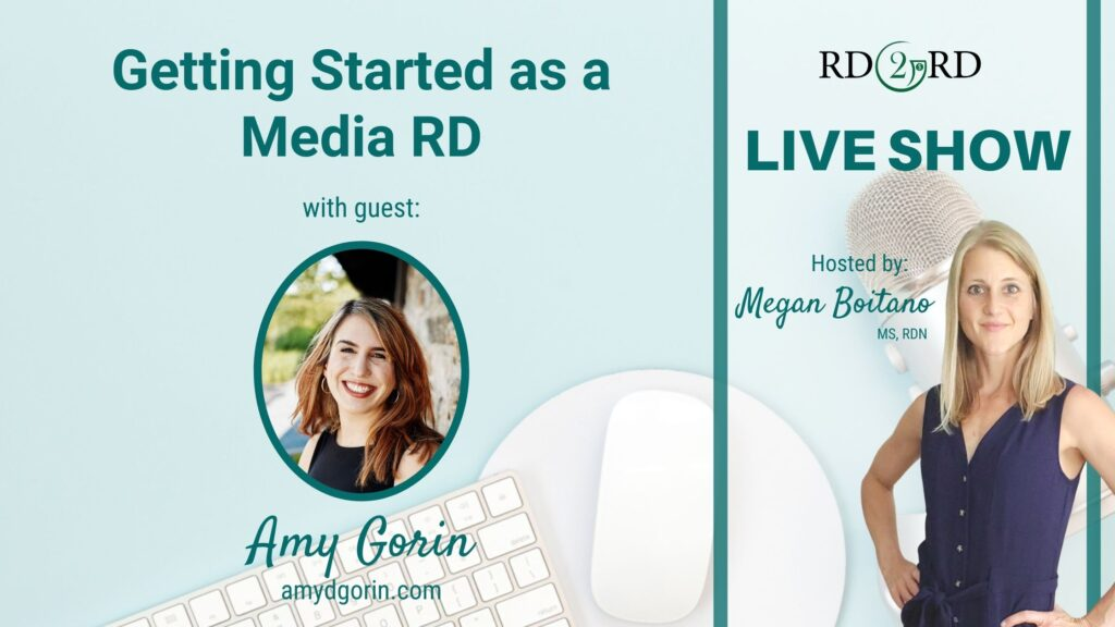 picture of amy gorin as live show guest expert for topic getting started as media rd
