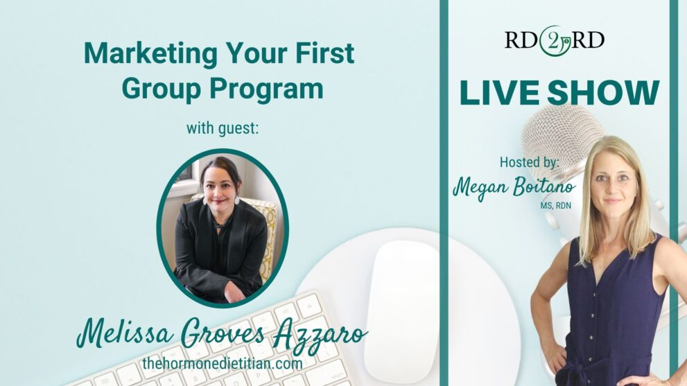 Marketing Your First Group Program