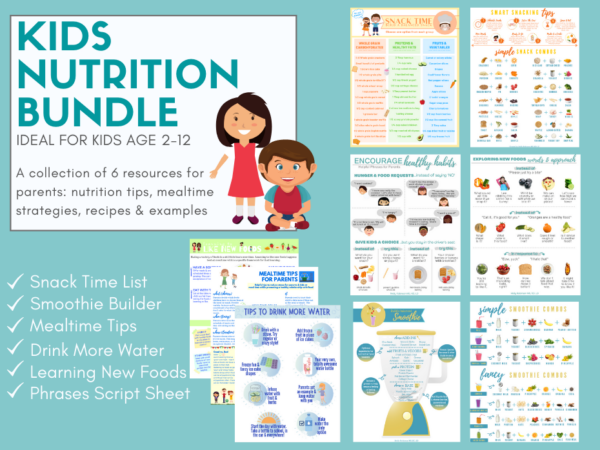 page previews of kids nutrition bundle