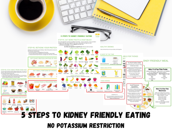 page previews of basic CKD diet education