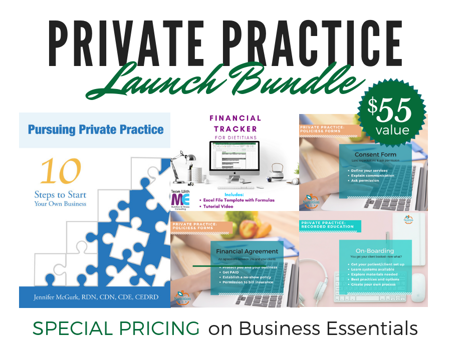 tools and resources to start nutrition private practice