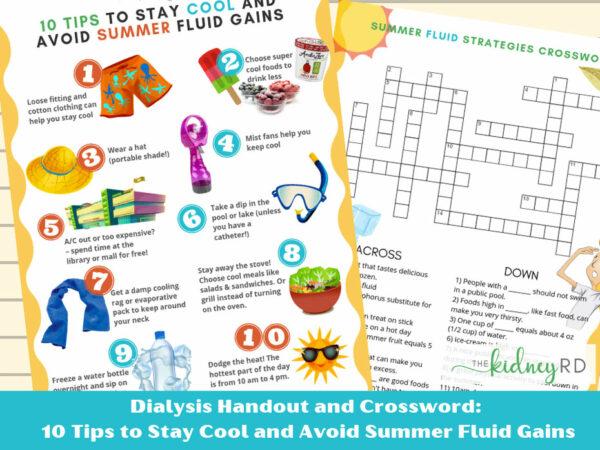 Dialysis Summer Fluid Handout and Crossword Game