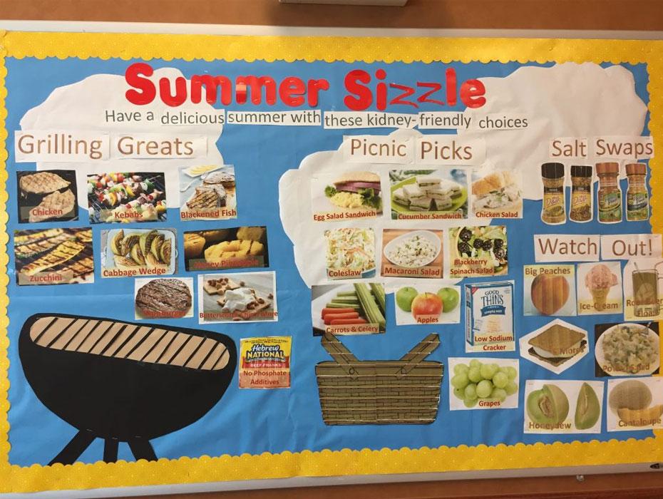 Summer Bulletin Board for Dialysis Unit