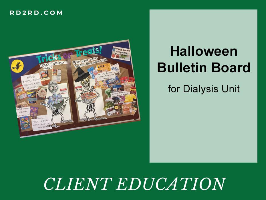 Halloween Bulletin Board for Dialysis Unit