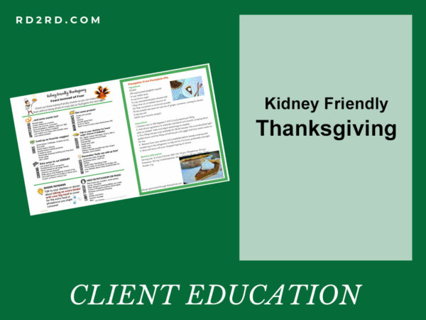 Kidney Friendly Thanksgiving