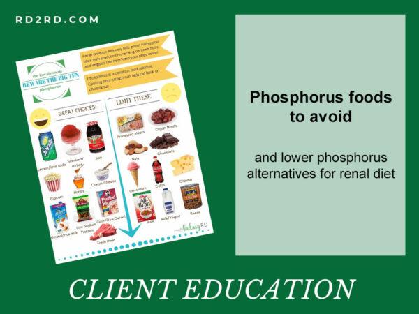 Phosphorus Foods To Avoid