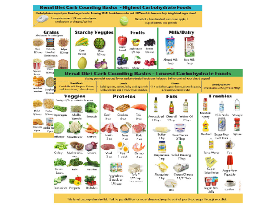 Pictorial Carbohydrate Counting for Renal Diet | RD2RD