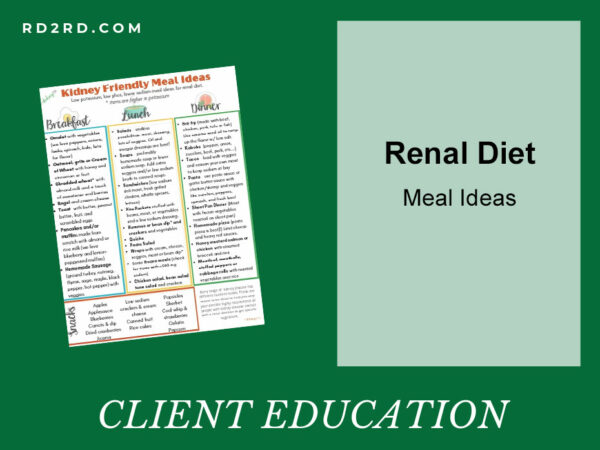 Renal diet meal ideas