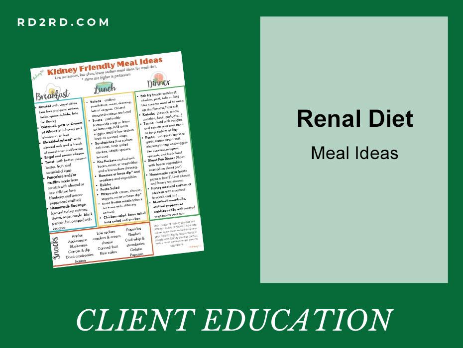 Renal diet meal ideas