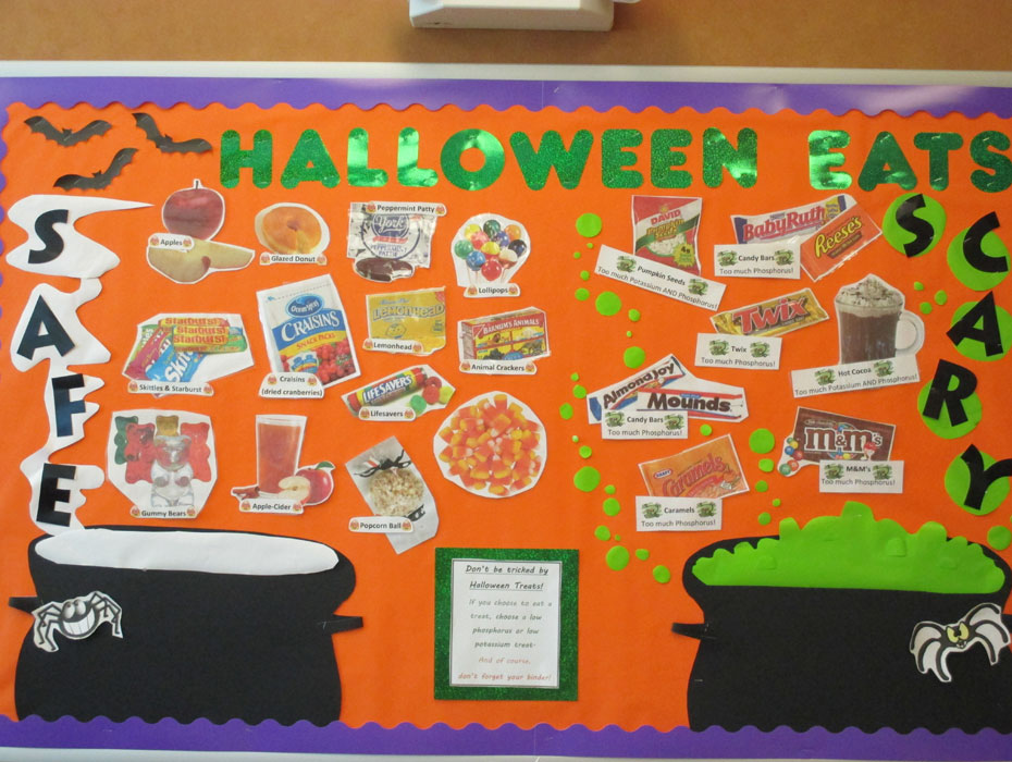 Safe or Scary Halloween Dialysis Bulletin Board | RD2RD