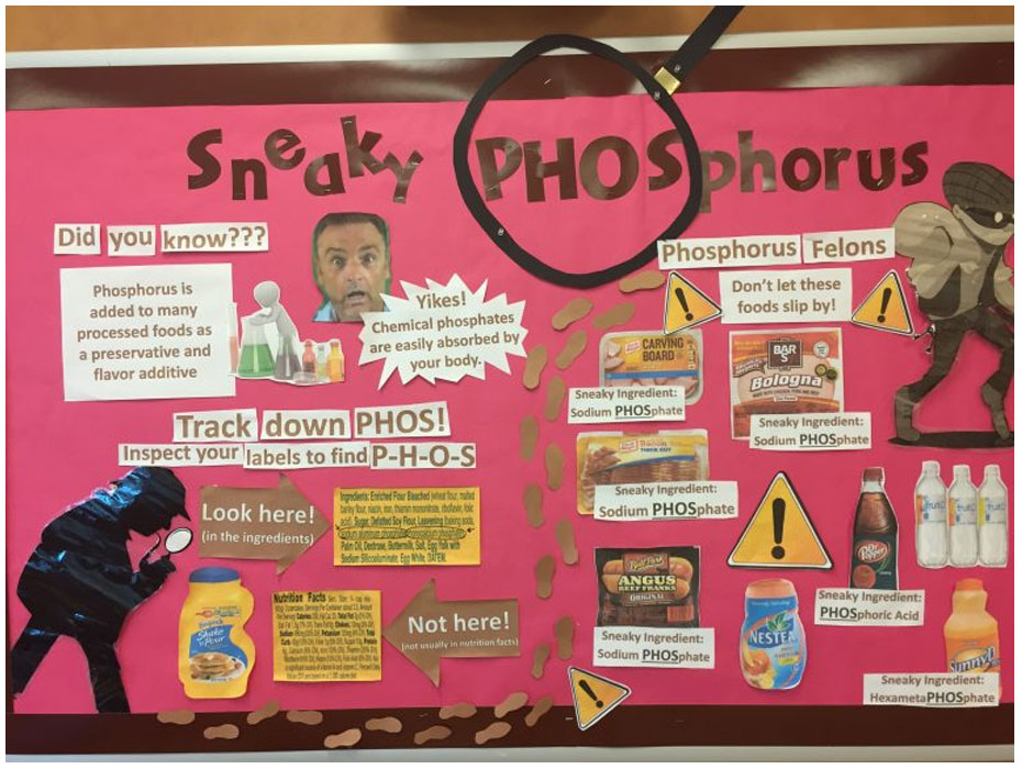Phosphate Additives Bulletin Board for Dialysis Unit