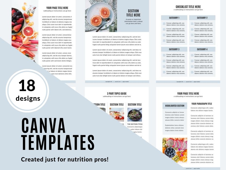 page preview images of canva templates