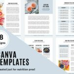 canva templates shown can be used to start your dietitian private practice