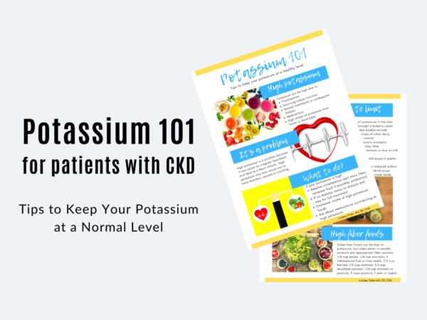 page images of potassium 101 educational handout