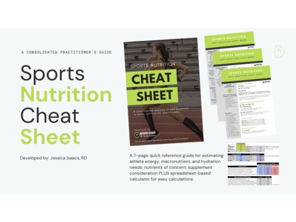 sports nutrition cheat sheet