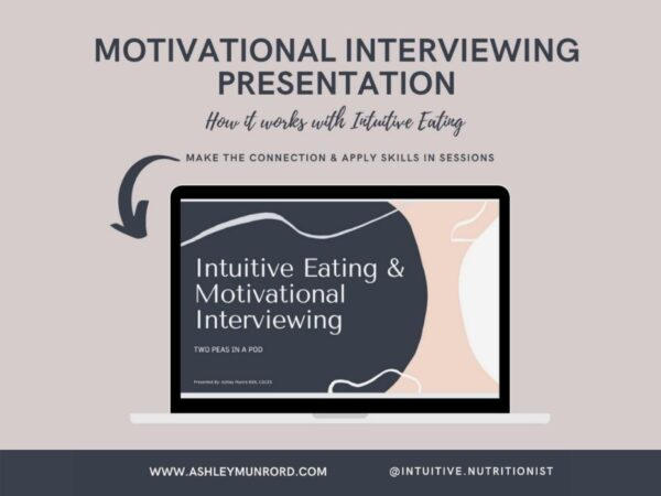 screen image of motivational interviewing presentation