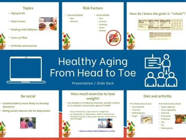 slide previews from healthy aging presentation