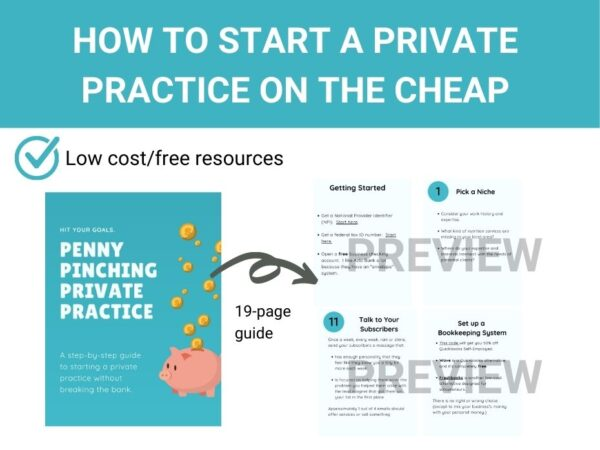 page previews from penny pinching private practice guide