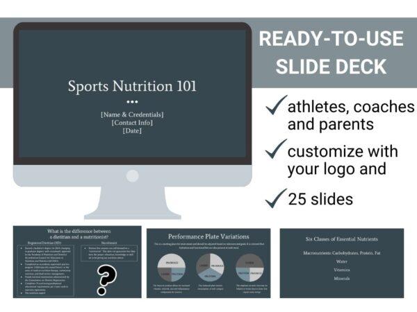 slide images from sports nutrition 101 presentation
