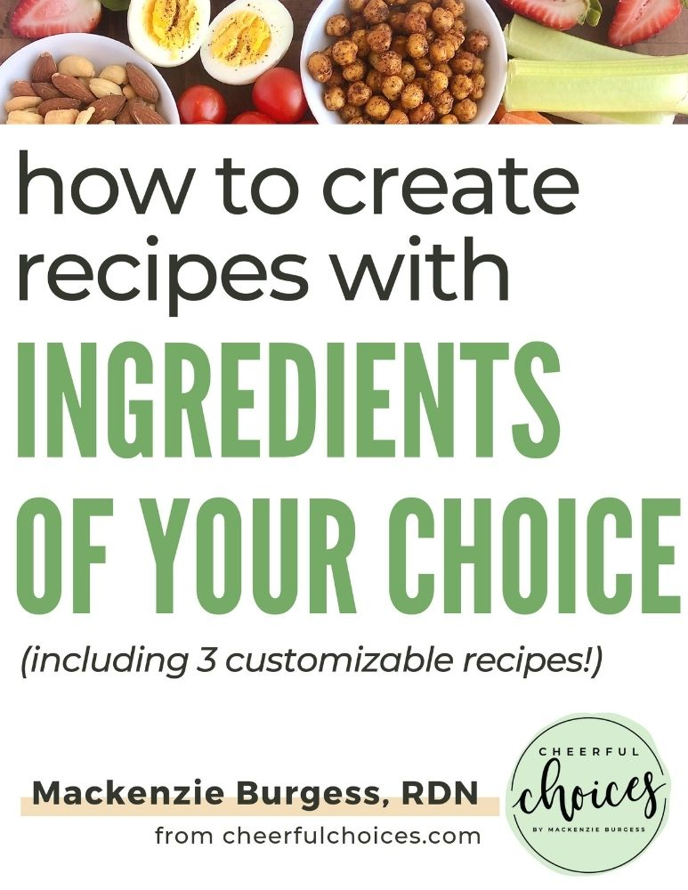 page preview of cover image for customizing recipes ebook