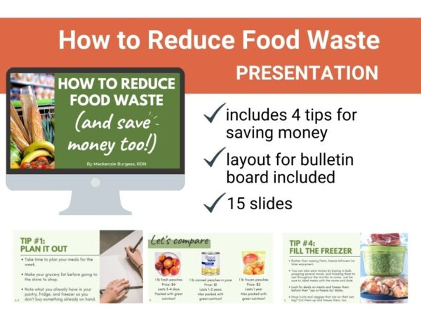 slide preview image for reducing food waste