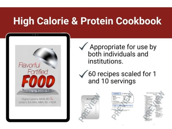page preview from high calorie and protein cookbook